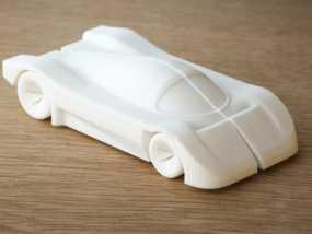 梅赛德斯C9 车 3D模型