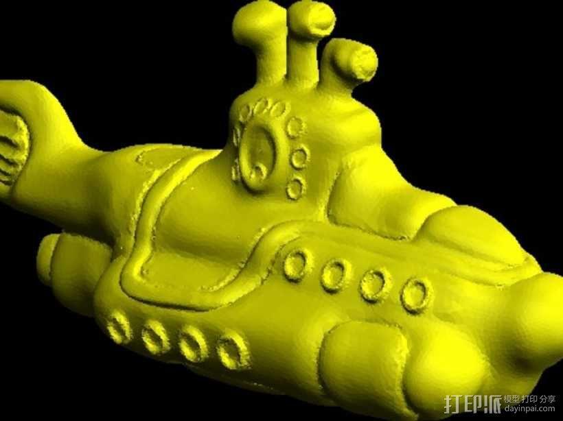 黄色的潜水艇 3D模型  图3
