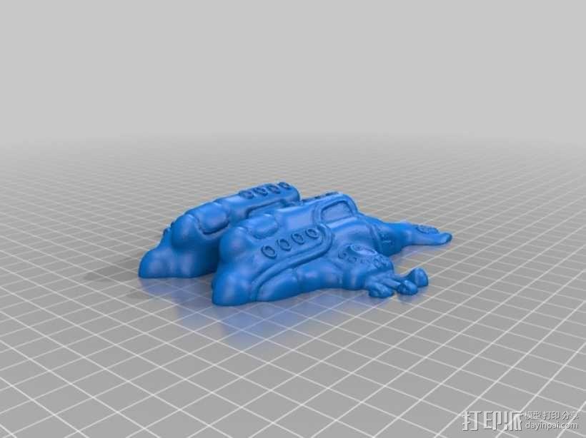 黄色的潜水艇 3D模型  图4