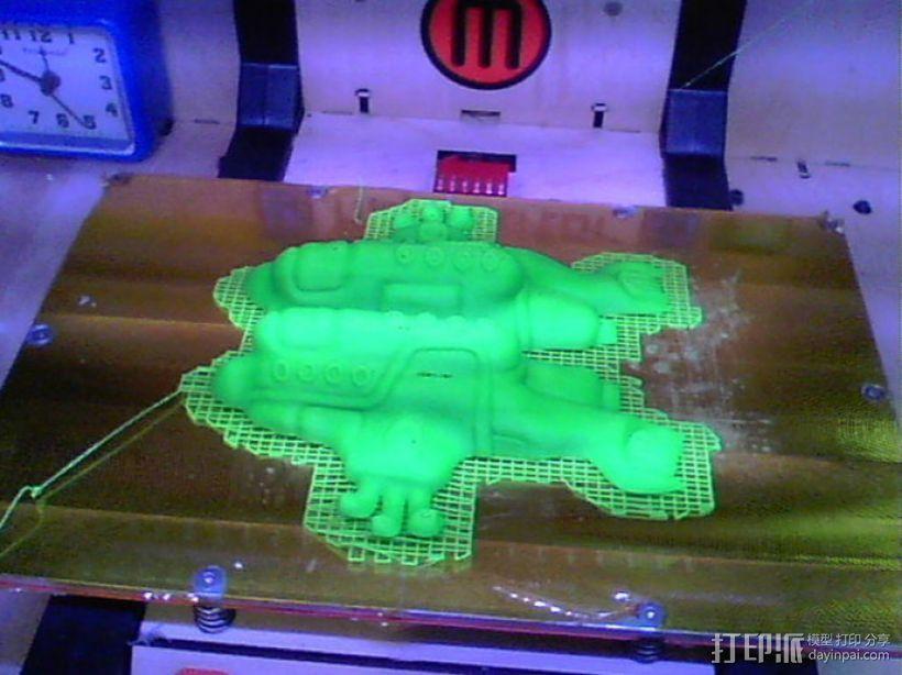 黄色的潜水艇 3D模型  图2