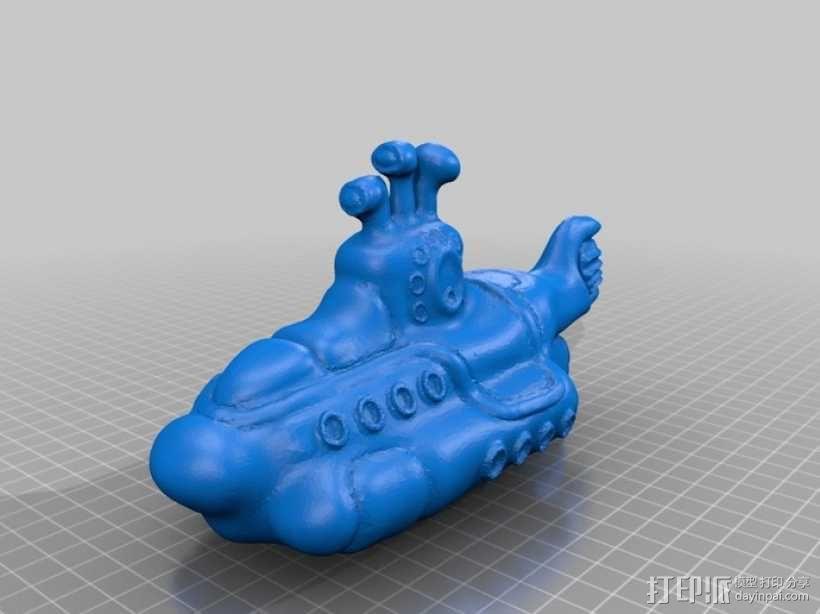 黄色的潜水艇 3D模型  图5