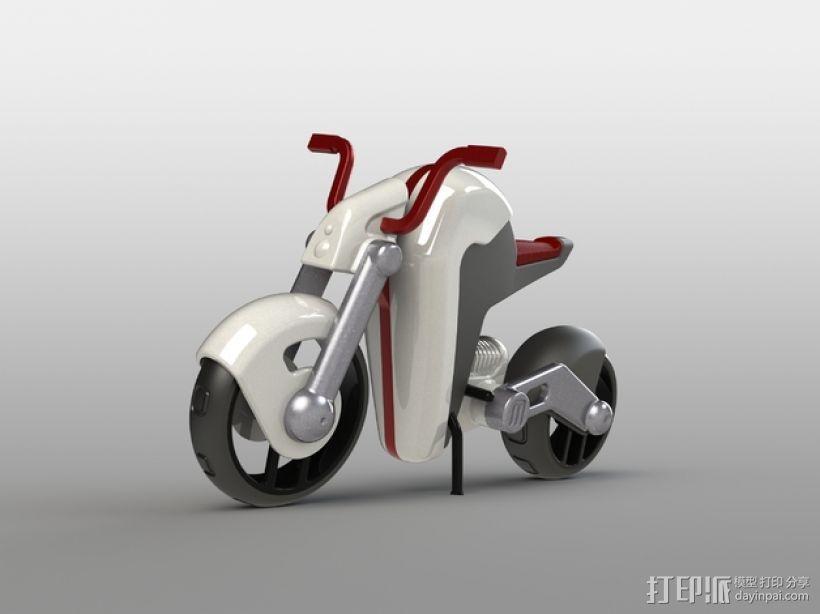 电动摩托车 3D模型  图1