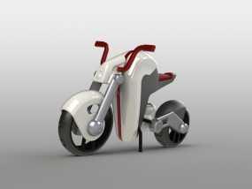 电动摩托车 3D模型