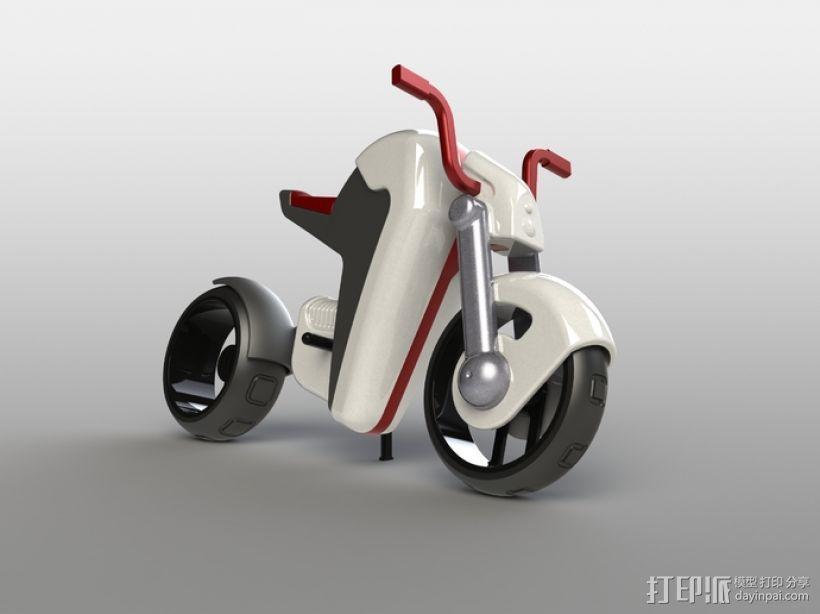 电动摩托车 3D模型  图24