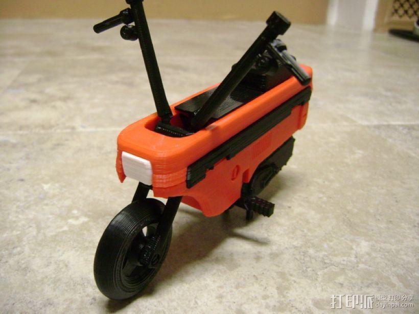 折叠踏板车 3D模型  图1