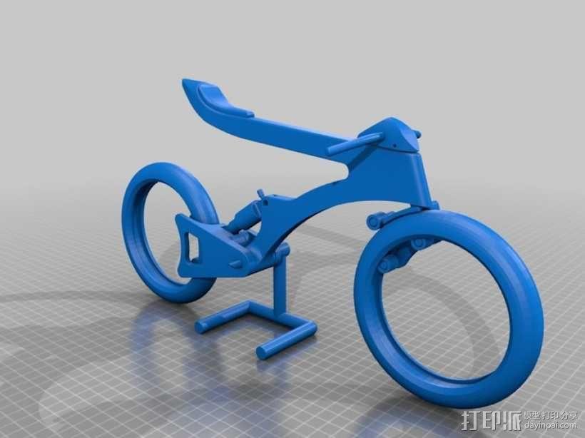 摩托车模型  3D模型  图1