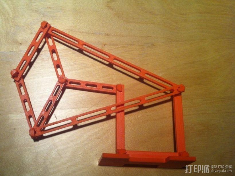 Peaucellier直线连杆 3D模型  图1