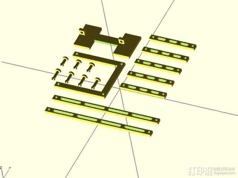 Peaucellier直线连杆 3D模型  图2