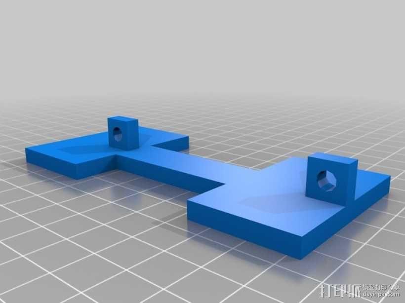 Peaucellier直线连杆 3D模型  图3