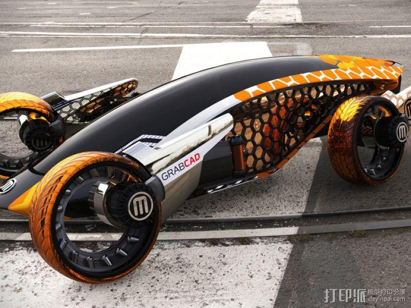 Firanse R3 未来风赛车 3D模型  图3