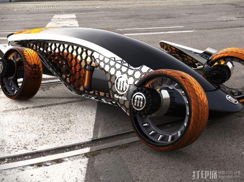 Firanse R3 未来风赛车 3D模型  图2