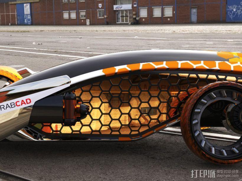 Firanse R3 未来风赛车 3D模型  图4