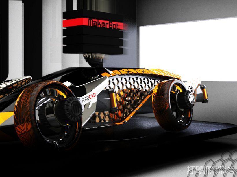 Firanse R3 未来风赛车 3D模型  图7