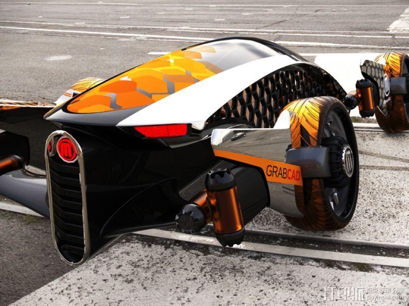 Firanse R3 未来风赛车 3D模型  图6