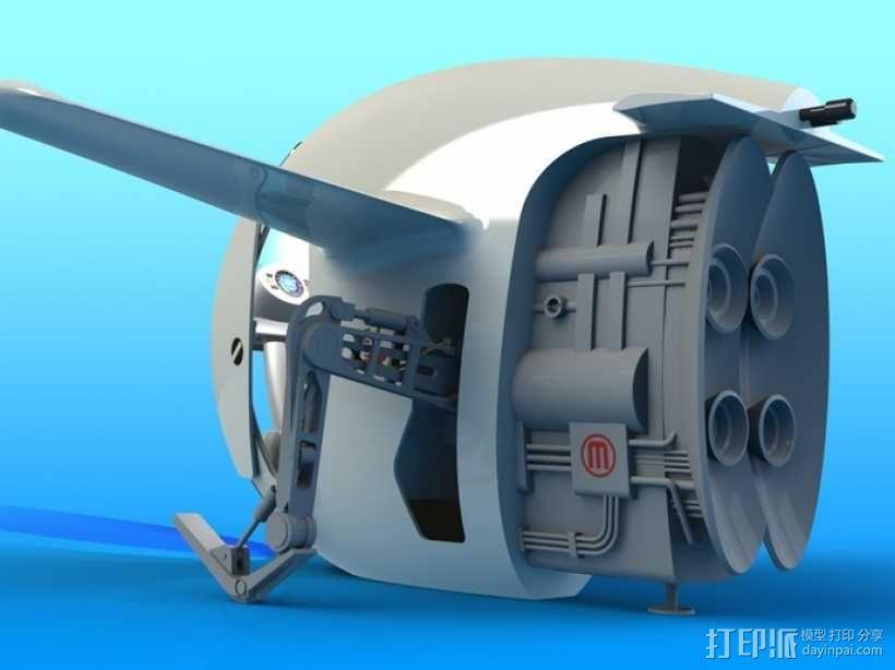 2040未来主义风格飞行器 3D模型  图7
