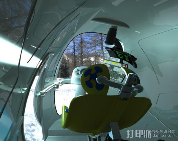 2040未来主义风格飞行器 3D模型  图6