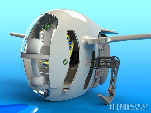 2040未来主义风格飞行器 3D模型  图8