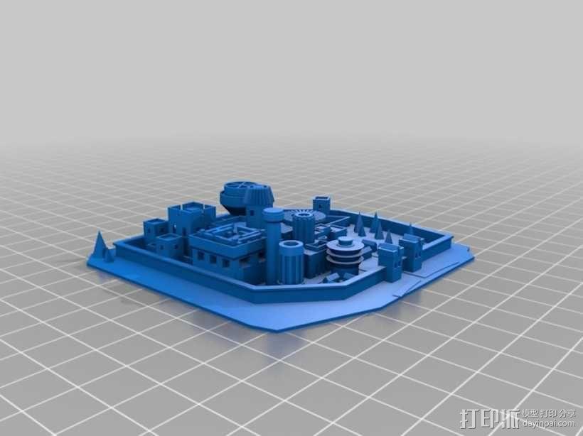 温特菲尔 城市模型 3D模型  图2
