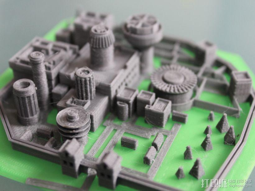 温特菲尔 城市模型 3D模型  图3