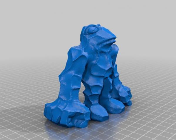 石蛙 3D模型  图1