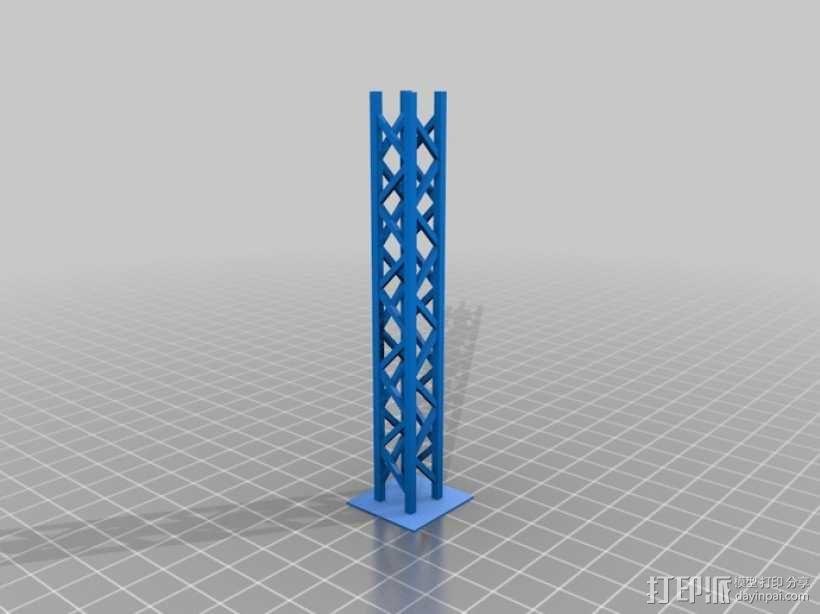 模块化高架结构 3D模型  图1