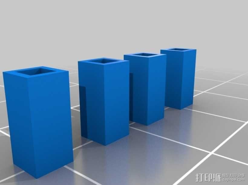 模块化高架结构 3D模型  图2
