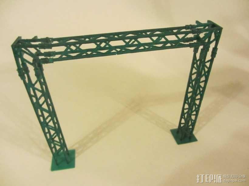 模块化高架结构 3D模型  图3