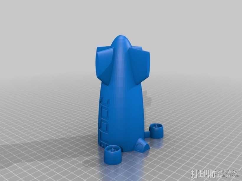 定制化小型飞船  3D模型  图3