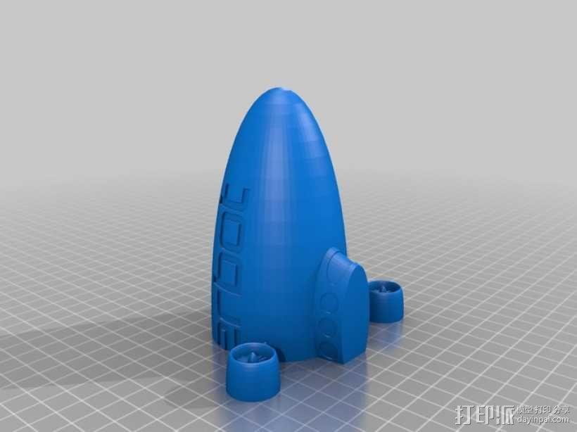 定制化小型飞船  3D模型  图2