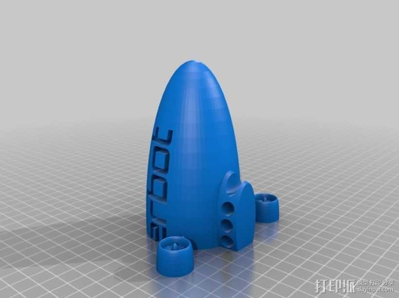 定制化小型飞船  3D模型  图4