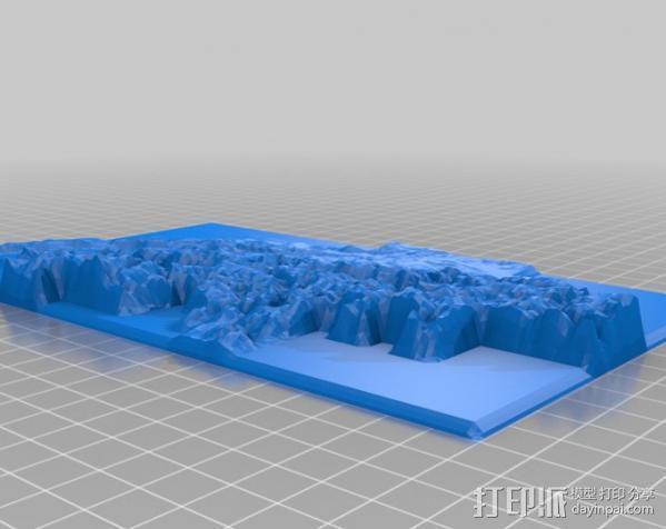 瑞士地形图 3D模型  图1
