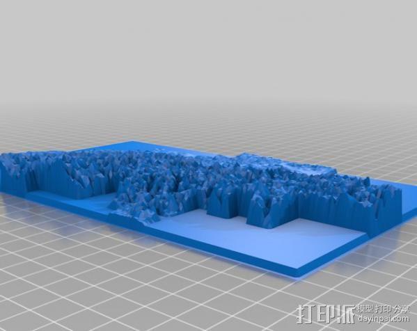 瑞士地形图 3D模型  图3
