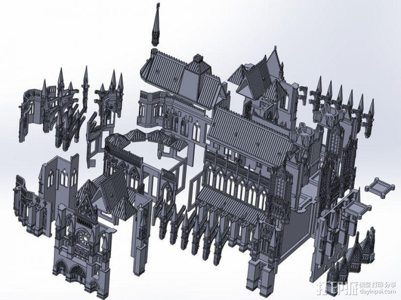 法国兰斯大教堂  3D模型  图2