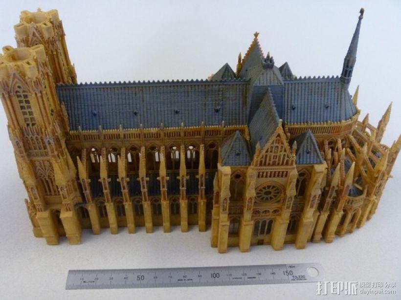 法国兰斯大教堂  3D模型  图3
