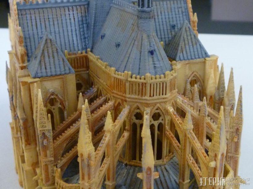 法国兰斯大教堂  3D模型  图7