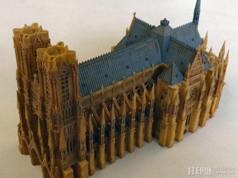 法国兰斯大教堂  3D模型  图5