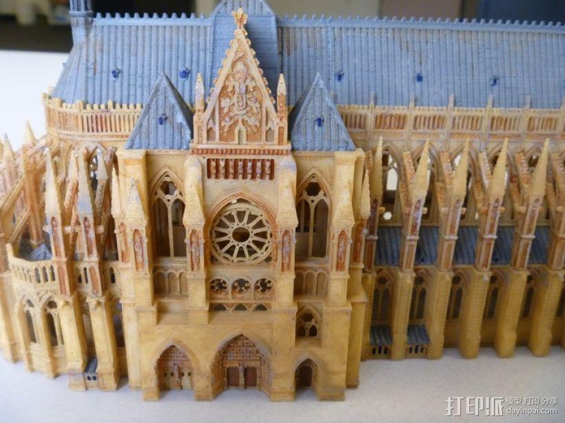 法国兰斯大教堂  3D模型  图9