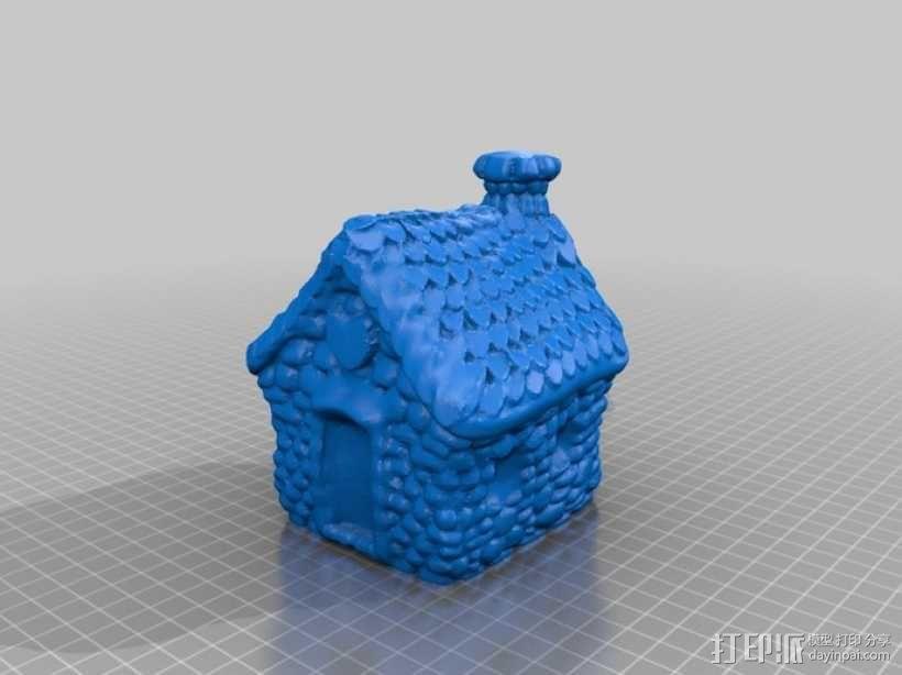 小石屋 3D模型  图1