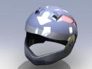 外壳全脸头盔 3D模型 图2