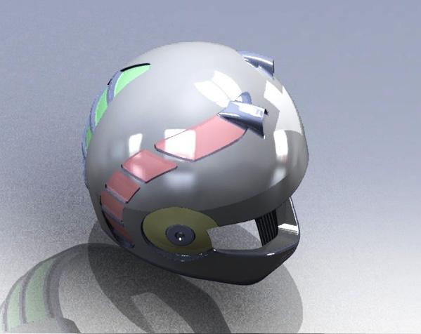 外壳全脸头盔 3D模型  图1