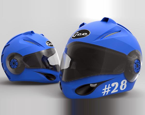 外壳全脸头盔 3D模型  图4