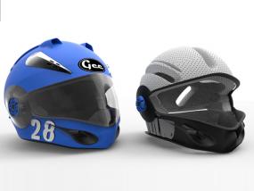 外壳全脸头盔 3D模型
