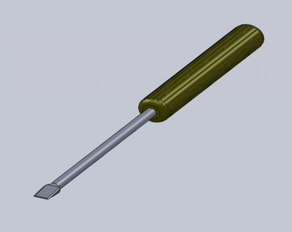 螺丝刀 3D模型  图1