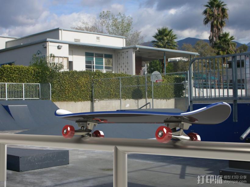 滑板 3D模型  图4