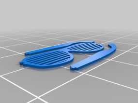 快门眼镜 3D模型