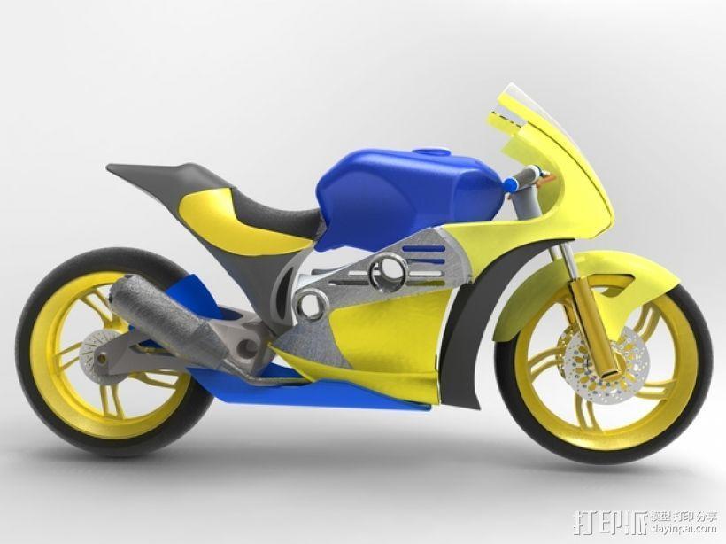 摩托车 3D模型  图4