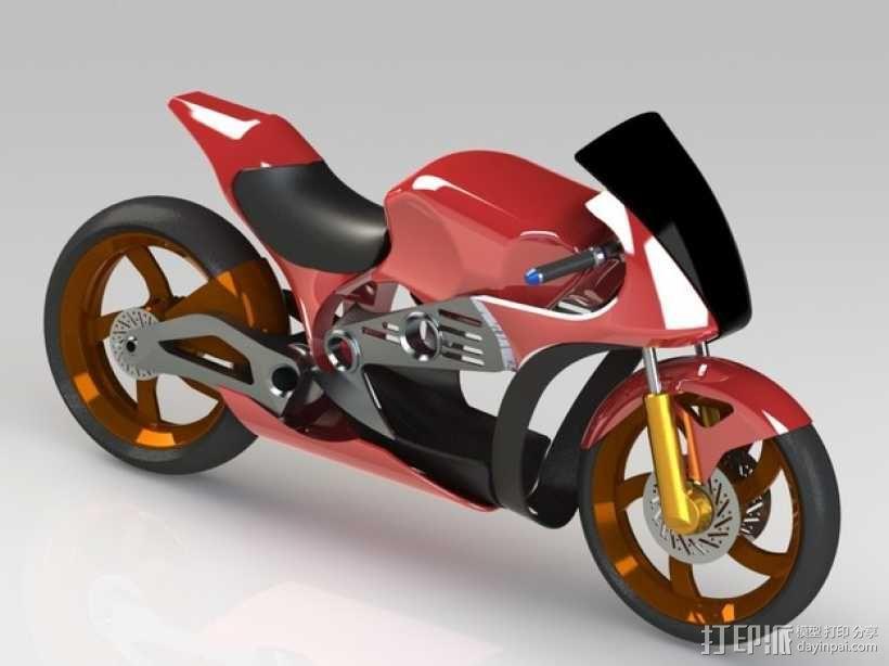 摩托车 3D模型  图2