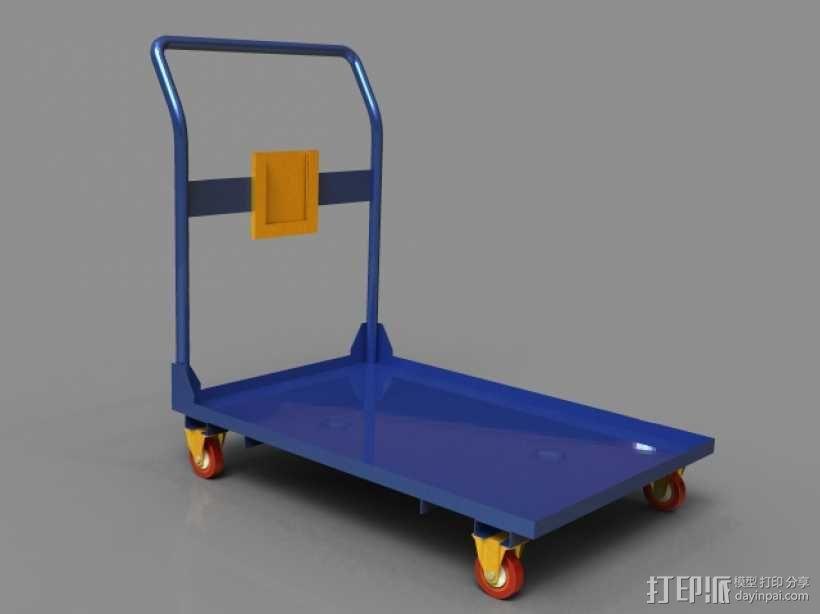 拉货车 3D模型  图1
