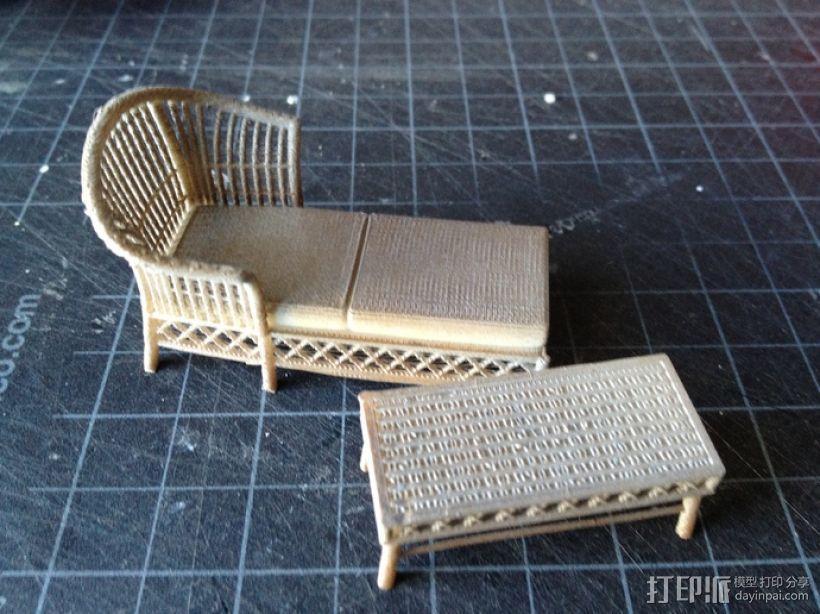 1:24柳条家具套件 3D模型  图4