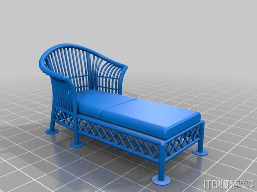 1:24柳条家具套件 3D模型  图7